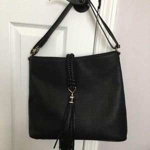 Stella and Dot Hobo Tassel black handbag